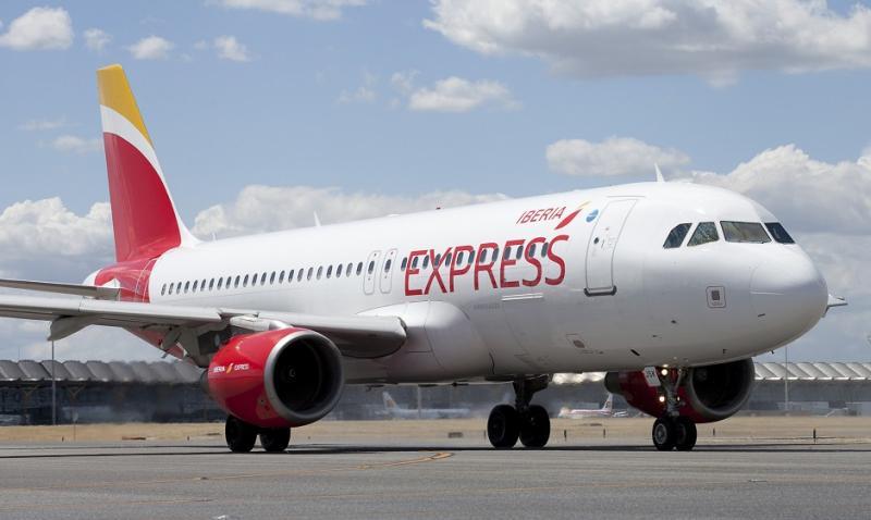Un avión de la flota de Iberia Express