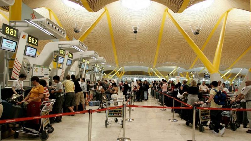 Foto del aeropuerto de Barajas en Madrid, el más concurrido un año más.